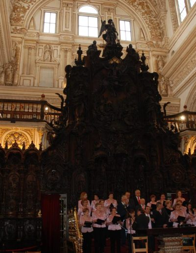 Coro en la catedral