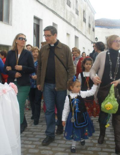 Siguiendo la procesión